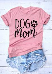 Canada Chien maman drôle Leer T-shirt imprimé chien coeur Tops chien maman Harajuku Crewneck Hipster graphique Coon Tee maman rose chemises supplier pink heart top Offre