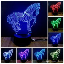 2019 veilleuses en forme d'animaux Nouvelle intelligence ménage coloré veilleuse forme animale lampe de table lampe de fête élégante élégante IA807 veilleuses en forme d'animaux pas cher