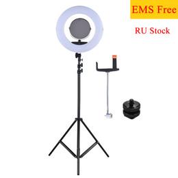 "Складная подставка для смартфона онлайн-FD-480II 17.7""/45cm 96W LED Video Ring Light Lamp w/LCD+Foldable Light stand+Adapter+Make-up Mirror+Smartphone Holder for Camera"