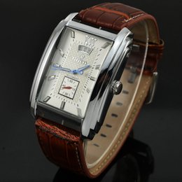 Элегантные автоматические мужские часы онлайн-Goer Automatic Watch Men Elegant Rectangle Dial Leather Band Autoamtic Self-wind Mechanical Watches For Men Relogio Masculino