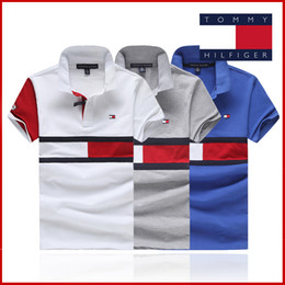 Wholesale women fashion cardigan - Wholesale Polo Shirt New Brand Men Clothing Solid Men Red and white letters Embroidery Polo Shirts Casual Poloshirt Cotton Breathable