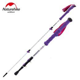 Wholesale Carbon Canes - Naturehike Carbon Fiber Walking Stick Trekking Poles Alpenstock Hiking Cane Ultralight Adjustable 1PCS 3 Section His-and-Hers