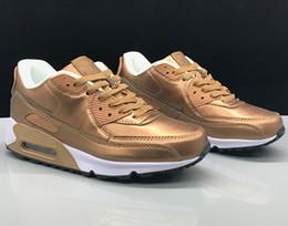 Hohe Qualität Neue 90 klassische Herren Damen Laufschuhe Kissen Outdoor Sneakers Schuhe Gelb Stoßdämpfende Anti Rutsch Wrapping Wärme