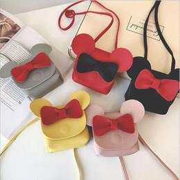 8459598a330 bags mickey Coupons - New Cute Mini Bags Children Bowknot Handbag For Girls  Cartoon Mickey PU