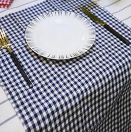 Wholesale Wholesale Cloth Table Napkins - 100pcs Cotton Cloth Napkins Plaid placemat cm Home Restaurant Cafe Table Napkin Wedding Table Kitchen Tea Towels