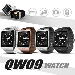 Wholesale Italian Network - Bluetooth Smart Watches QW09 Watch 3G Network Smart Bracelet Support SIM Card Camera Real Pedometer For Android IOS Cellphones with Box
