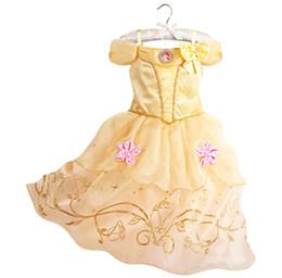 Belle Kleid für Kinder Kostüm Rapunzel Party Brautkleid Kostüm Kinder Mädchen Prinzessin Kleid Belle Dornröschen Aurora Kostüm von Fabrikanten