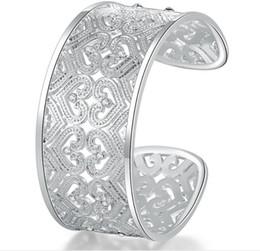 Luckyshine 6Pcs Full White Cubic Zirconia Gemmes 925 Sterling Silver Open Bangles Russie Australie États-Unis Bracelets Bracelets Bijoux ? partir de fabricateur