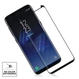 Canada Verre Trempé 9H Dureté 3D Courbé Haute Définition Ultra Clair Pour Galaxy S9 Plus 8 S8 Plus S7 Bord S6 Bord Corne Conception Offre
