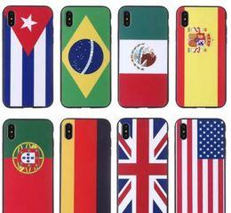 Creative World Cup drapeau iphone 8X étui de téléphone en relief 7plus anti-chute iphone 6s protection ensemble ? partir de fabricateur
