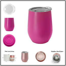 Wholesale Coating Car - Insalution Stainless Steel Tumblers Bilayer 26 Colors Powder Coated Car Beer Mugs Thermos 9 oz Fashion Bottle for Sports