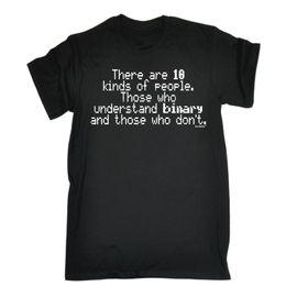 Programador online-10 tipos de personas comprenden la camiseta binaria Administrador Programador Regalo Cumpleaños Divertido envío gratis Unisex Casual camiseta de regalo