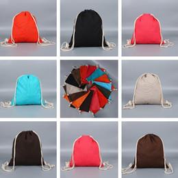 b0faa9e71c Hot personalizzato cotone corda con coulisse borse zaino borse su misura  studente zaino zaino personalizzato su tela borsa borsa all'ingrosso T7I514  zaini ...