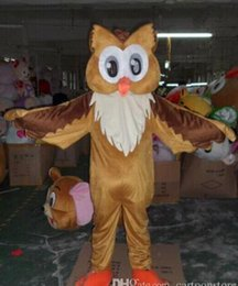 Wholesale Adult Costumes Owl - New Adult Cute BRAND Cartoon Brown Owl Mascot Costume Fancy Dress Hot Sale Party costume Free Ship