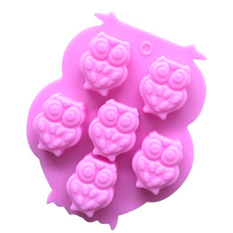 Wholesale Owl Silicone Mold - Owl silicone cake mold sugarcraft fondant mold non stick handmade chocolate mousse jelly cake baking mold