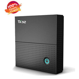 Android box tv octa quad en Ligne-Android 7.1 TX92 TV Box Octa Core Amlogic S912 Smart TV Box WIFI suport 3D Gratuit Mieux T95Z PLUS H96 MAX