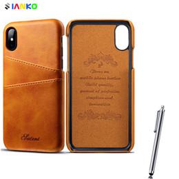 Funda de cuero original SUTENI High Quility para iPhone Xr Xs Estilo de moda de la cubierta máxima con monedero IC Slot para iPhone X-8-7-6 Tope desde fabricantes