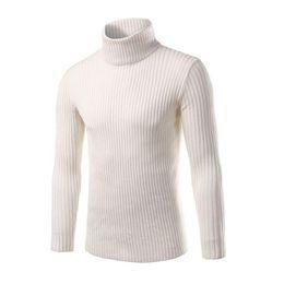 Мужские трикотажные свитера из черепахи онлайн-Loldeal 2019 мужские белые свитера и пуловеры мужчины Черепаха шеи бренд свитер мужской верхней одежды перемычка трикотажные свитера водолазки