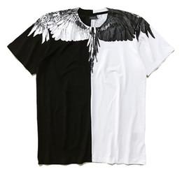 asa do burlon de marcelo Desconto Marcelo Burlon camiseta Itália County Of Milan Pena Asa Men T-shirt da forma de 2018 mulheres Casual Verão Estilo T de alta qualidade