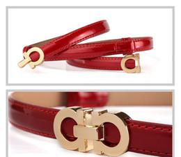 Hebillas de cinturón vestidos online-Moda de verano Mujeres Cinturones de Lujo Mujer de Charol Diseñador Delgado Vestido de Las Señoras Cinturones de Cintura con Hebilla de oro rosa