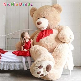 2019 jouets de tortue rouge Gros-200cm Grande taille USA Teddy Bear Grand ours géant en peau d'ours #