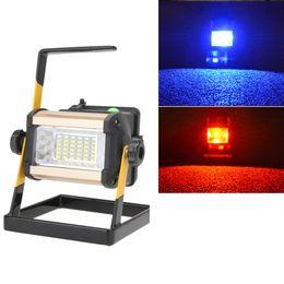 Wholesale led flood lights bulbs - EU Plug 3 Modes 2400lm Floodlights Rechargeable 50W 36LED Portable LED Flood Spot Work Light Waterproof Outdoor Camping Lamp