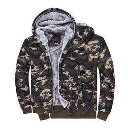 Wholesale Camouflage Winter Coats For Men - Camouflage Mens jackets 2017 with Hat 100% Cotton for Autumn Winter Coat Military Jacket Manteau Homme Militar Man Clothing