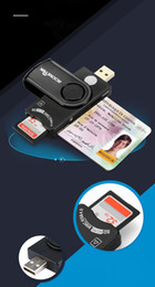 Wholesale tf sim card adapter - USB 2.0 Smart Card Reader DOD Military CAC Common Access Bank card ID SD Micro SD TF MS M2 sim card adapter free shipping high quality 2018