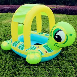 Wholesale Inflatable Toddler Swimming Pools - Tortoise Inflatable Swimming Pools Accessories Baby Plastic Kids Children Toddler Baby Seat Float for 0-3years