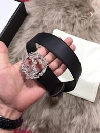 Wholesale Larger Women - 2018 Hot fashion larger buckle belts for men and women genuine leather brand luxury belt designer belts Men high quality belt with box