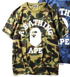 Wholesale Camo T - 2018 Kanye West T-Shirts Men Short Sleeve T Shirt Brand Camo Print Tees Homme Brand T-Shirt Clothing Free Shipping