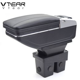 Wholesale Honda Stores - For Honda City armrest box PU Leather central Store content box cup holder interior car-styling products accessory 06-09