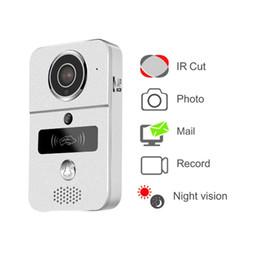 Видео с использованием смарт-карт онлайн-Видео-дверной звонок 720p WiFi умный видео-дверной звонок с карточкой RFID вполне-Двухшпиндельная беседа поддерживает микро-ПК карточки SD с Windows WIFI видео-телефон двери