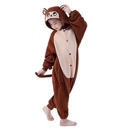 Wholesale Animal Cosplay Kigurumi - Cosplay Children Unisex Brown Monkey Animal Kigurumi Onesie Pajamas Costume Animal Pajamas Baby Sleepwear