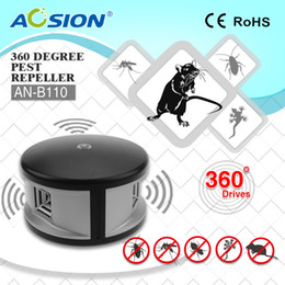 Mice rats online-Spedizione gratuita Home Aosion 360 gradi ultrasonici Ratti Roditore Mouse Topi Repellente ed elettronico Controllo Repeller parassiti