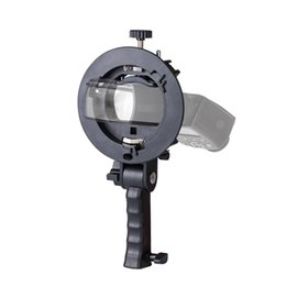 Soporte de godox online-Soporte de flash para montaje en agarre de mano Soporte tipo soporte para flash de Godox Yongnuo Meike Speedlite con mango