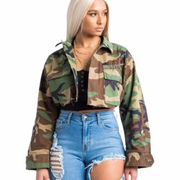 Fashion casual women jacket 2018 new arrival autumn Wild long sleeveless  Camouflage printed open stitch streetwear short coat 9a0ad7f81