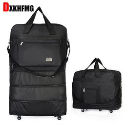 Duffel Bag Portable Travel Rolling Suitcase Air Carrier Bag Expandable  Folding Oxford Suitcase Bags with Wheels Overnight d4df708b1cdf9