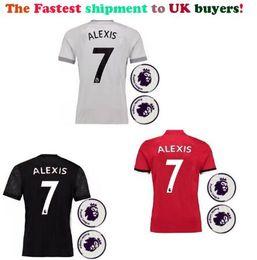 Wholesale Premier League Football Shirts - Aaron store Fastest Shipment to UK buyers! Premier league patch! New Man Chandal Football 2018 Alexis Sanchez utd soccer jerseys shirts