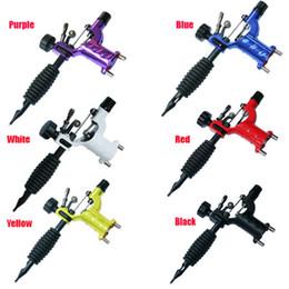 mejor máquina de revestimiento rotativo Rebajas Dropshipping Dragonfly Rotary Tattoo Machine Shader Liner Surtido Tatoo Motor Kits Suministro 7 colores de alta calidad Tattoo Guns envío gratis