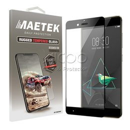 Wholesale Blade Screen Protector - Silk-screen Tempered Glass 2.5D Curved Screen Protector For ZTE ZMAX Blade Max Z983 LG K20 Plus X Charge Fortune Aristo 2 Samsung 2018 Film