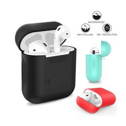 аксессуары для iphone для iphone Скидка Корпус для наушников для Apple Airpods ремешок Мягкие силиконовые наушники Аксессуары для наушников Защитный беспроводной Bluetooth-обложка