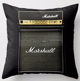 Amplificadores para guitarra electrica. online-Guitarra personalizada Amplificador Marshall Electric Amplificador Especial para música Mania Cool Zippered Square Throw Pillowcase Cushion Case