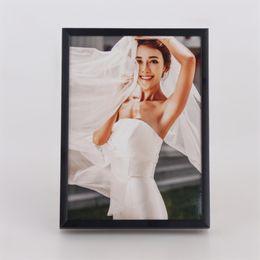 pittura ad olio di natale incorniciata Sconti 60 * 90 CM Facile Assemblare Cornice In Alluminio Verniciato Argento Decorazioni Naturali Dipinti Ad Olio Cornice (E09A21 H20mm W7mm)