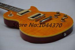 12 string solid body e-gitarre Rabatt Freier Verschiffen-Schlag-Appetit-natürliche gelbe Explosion E-Gitarre der Gitarre SLASH Wholesale