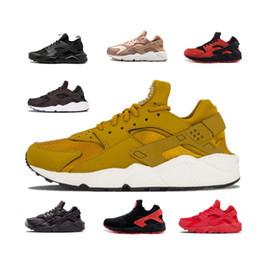hot sale online 8c668 dbbb8 2018 New Air Huarache Breathe Running Shoes Uomo Donna Hurache Nero Bianco Huaraches  Multicolor Huraches Mens Scarpe da ginnastica Harache Sneakers ...