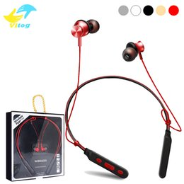 Wholesale Magnetic White - M6 Bluetooth Headset Headphones Magnetic Wireless Earphones Earbuds Stereo Wireless Neckbands For iphone X Samsung With Retail Box