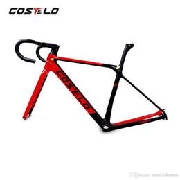 Costelo Rio 3.0 bicicleta de estrada de fibra de carbono quadro garfo braçadeira selim de Carbono Estrada bicicleta Quadro 880g com guidão integrado de