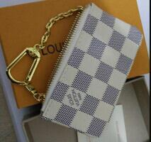 Wholesale Famous Coins - 2018 KEY POUCH Damier canvas holds high quality famous classical designer women key holder coin purse small leer
