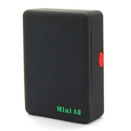 Wholesale A8 Global Mini Gps Tracker - A8 Mini GSM GPRS Tracker Global Real Time GSM GPRS Tracking Device With SOS Button for Cars Kids Elder Pets No GPS